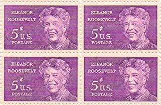 Eleanor Roosevelt Set of 4 X 5 Cent Us Postage Stamps Scot #1236a