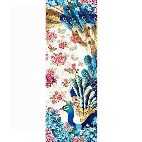 AGQZ opvouwbare yogamat met flamingo-print van suède 1830 x 680 x 1,5 mm fitnessmat