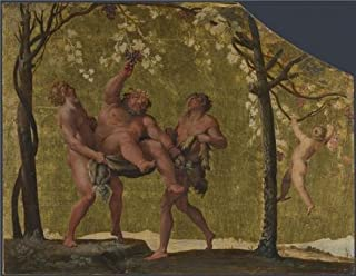 Perfect Effect Canvas ,the High Resolution Art Decorative Canvas Prints Of Oil Painting 'Annibale Carracci - Silenus Gathering Grapes,1597-1600', 8x10 Inch / 20x26 Cm Is Best For Living Room Decor And Home Gallery Art And Gifts