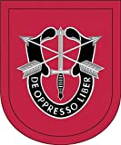 Military Vet Shop US Army 7th Special Forces Group Flash Window Bumper Sticker Decal 3.8'
