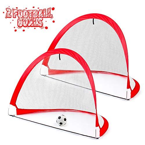 Fussballtor Fußballtor Kinder Garten Faltbare Popup Tor mit Tragetasche Indoor Outdoor Fussball Tor Spielzeug ab 3 4 5 6 Jahre Junge Mädchen