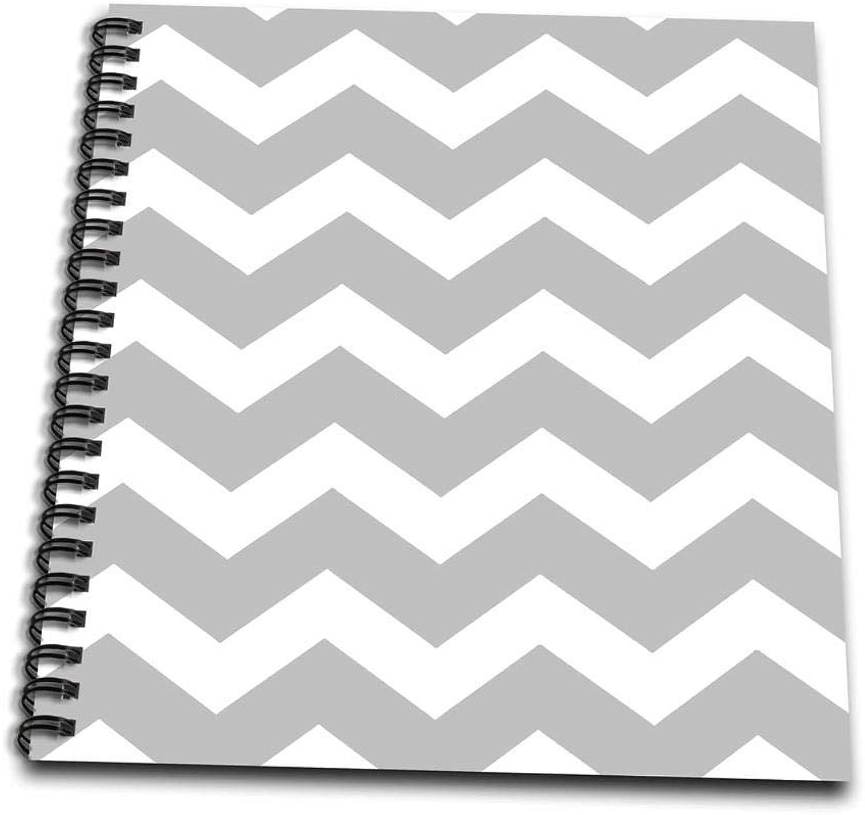 3dRosa DB 179675 _ 2 2 2 grau und weiß Zig Zag Chevron Muster. Hellgrau Silber Zigzags-Memory Book, 12 von 12 Zoll B00IT7IS2I | Förderung  1f40a6