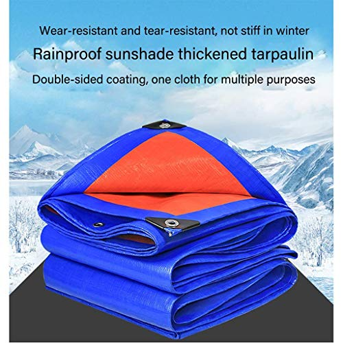 Tarpaulin, Camping Sunscreen, Rainproof, Windproof Tarpaulin, Canvas, Swimming Pool Floor Sunshade, Waterproof, Dustproof, Canopy (Size : 5X10M) Durable And Strong Tarpaulin