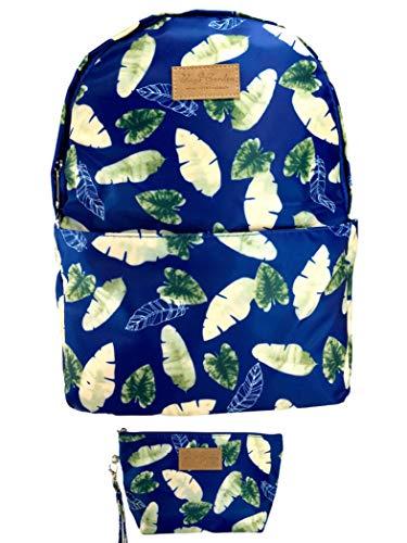 Bags Garden Mochila Mujer Casual y Estuche Impermeables. Set 2 piezas Mochila + Estuche Juvenil, Chica. Mochila Juvenil, Viaje, Playa, Campo, Deporte, Compras… Mochila Casual (azul)