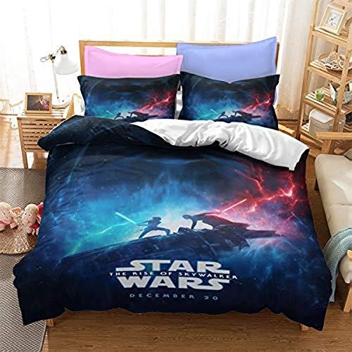 YOMOCO Star Wars - Juego de ropa de cama infantil, diseño de Star Wars (Star Wars03, 140 x 210 cm + 50 x 75 cm x 2)