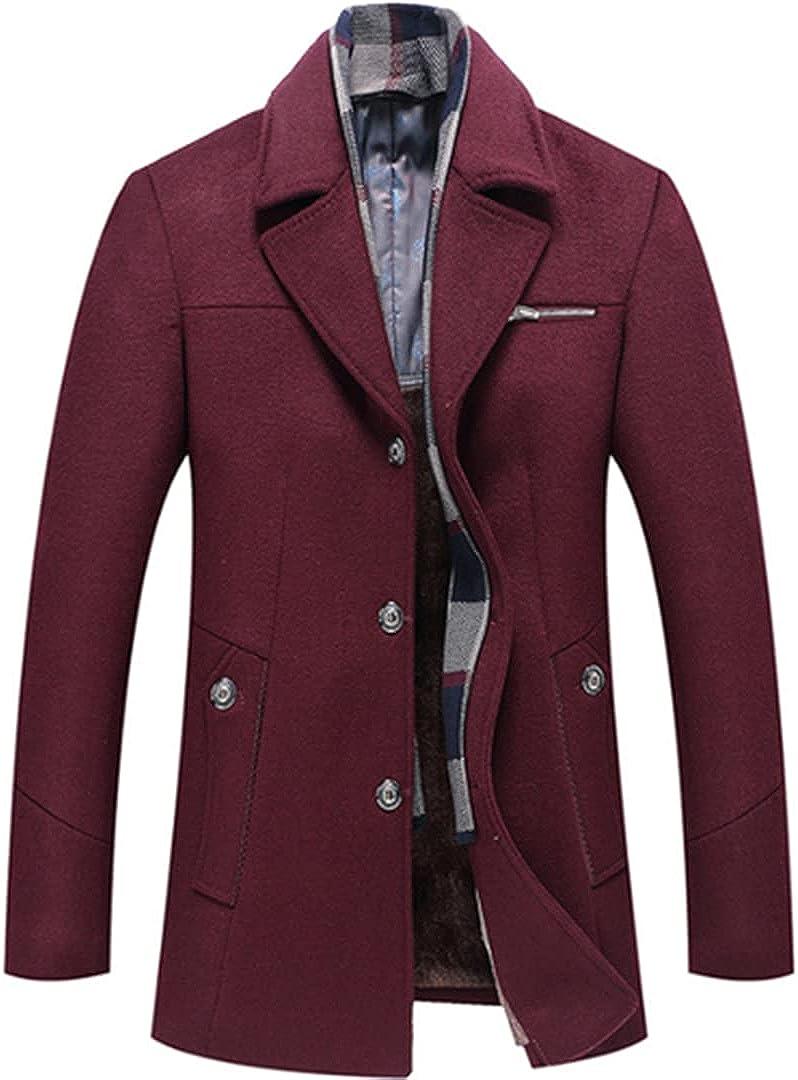 Winter Coat Men Abrigo Abrigo Hombre Invierno Wool Coat Men Thick Wool Jacket