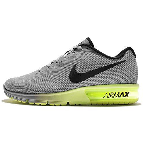 Nike Air Max Sequent, Scarpe da Corsa Uomo, Grigio, Nero (Wolf Grey Black Volt), 40 EU
