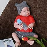 iCradle Silikon Ganzkörper Silikon Baby Puppe Weiche 18 Zoll / 23 Zoll Reborn Babypuppe Look Echte Nette Lebensechte 45cm/57cm Baby Doll Toddler Junge (18'/45cm)
