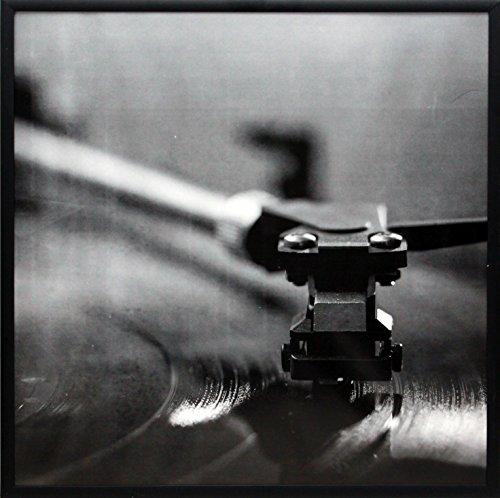 Marco para álbum de música de plátano Smashed, fabricado para exhibir cubiertas de álbum de vinilo LP de 31,75 x 31,75 cm, montaje...