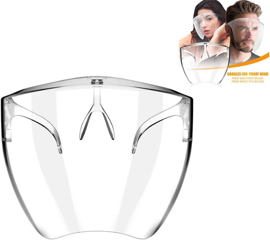 Younoo – Herramientas de protección transparente – Pantalla de protección antiarena, cortavientos, protección contra salpicaduras y sustancias nocivas (transparente)