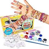 Kit de Perles Bracelet d'Amitié pour Filles Kit de Fabrication de Bracelet avec Perles Loisir Creatif DIY Cadeau d'anniversaire pour Adolescents Enfants Garçons Filles 8-12 Ans
