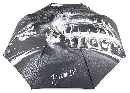Ombrello Y NOT automatico apri chiudi stampa Roma