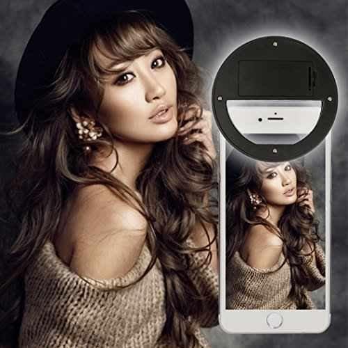 Selfie Ring Light: Luz De Selfie Para O Celular - Cor Preta (Selfie Light)