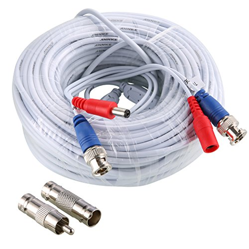 30M 100 Feet Video Power Security Camera Cable for CCTV...