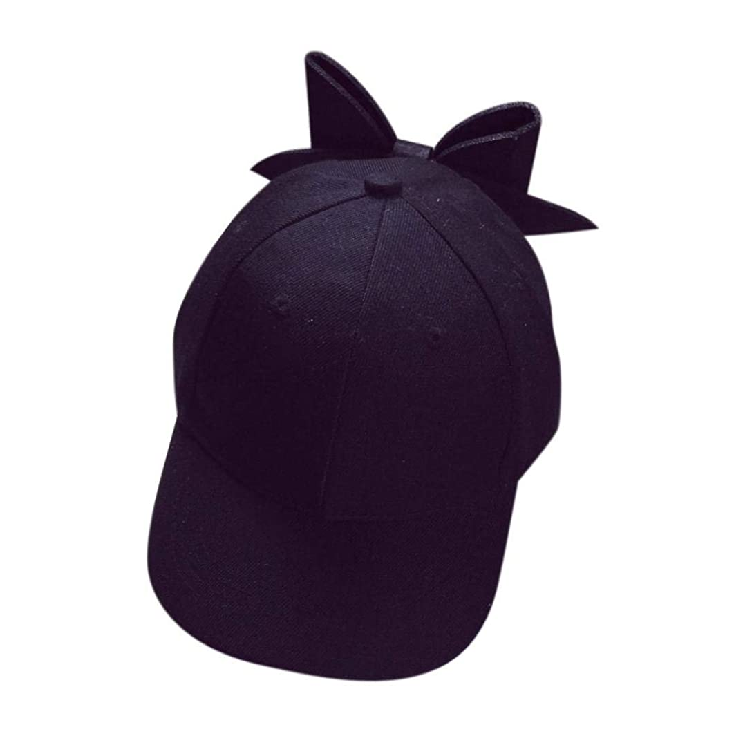 Hanican Fashion Women Men Hats Solid Bow Baseball Caps Couple Hat Hip Hop Flat Cap