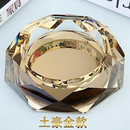 Glazen asbak persoonlijkheid creatieve kristal grote asbak woonkamer slaapkamer huis thee asbak, 25 CM Turkse Ho Kim