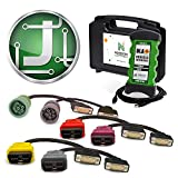 JPRO Professional Heavy Duty Truck Diagnostic Software & Hardware Adapter Kit All Cables