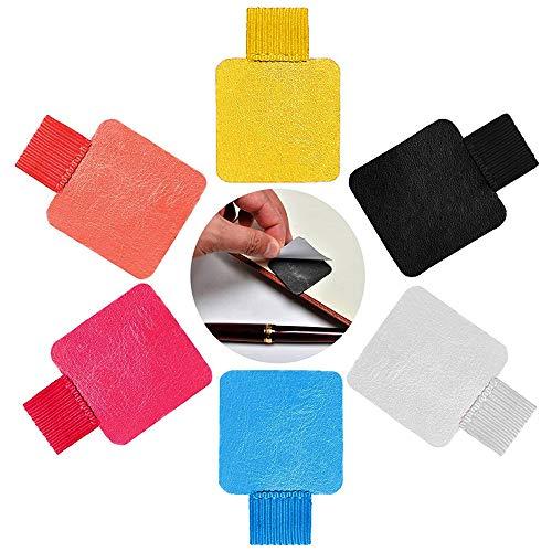 6 Pack Pen Loop Holders, Pencil Elastic Self-Adhesive Pen Holder Loop Designed for Notebooks, Journals, Calendars 6 Colors