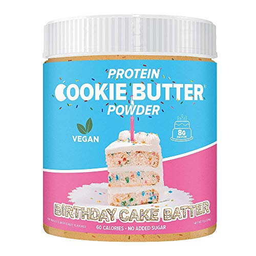 FDL - Keto Protein Powder Cookie Butter - Low Carb Food - Easy to Mix, Bake and Spread - 2g Net Carb - 9 oz (Birthday Cake Batter)
