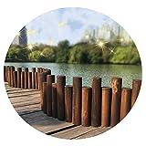 JIANFEI-Valla de jardín Valla De Madera, Al Aire Libre Jardín Madera Maciza Cerca, Guardería Patio Escalable Cerca, Balcón Decoración Dividir, 2 Modelos, Múltiples Tamaños (Size : B- 90x25/30cm)