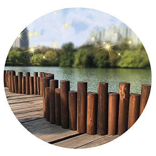 JIANFEI-Valla de jardín Valla De Madera, Al Aire Libre Jardín Madera Maciza Cerca, Guardería Patio Escalable Cerca, Balcón Decoración Dividir, 2 Modelos, Múltiples Tamaños (Size : B-90x40/50cm)