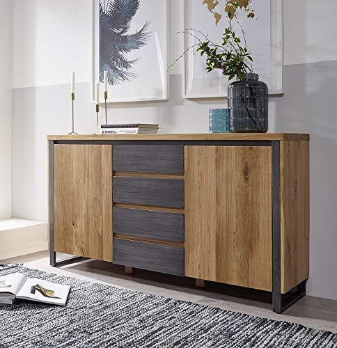 Main Möbel Sideboard 160cm 'Taipeh' Wildeiche massiv