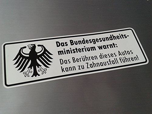 folien-zentrum Warnung Zahnausfall Shocker Hand Auto Aufkleber JDM Tuning OEM Dub Decal Stickerbomb Bombing Fun w
