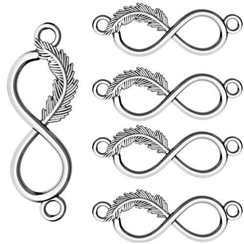 My-Bead 5 piezas conectors de joyería Infinito con primavera Plata de ley 925 breloque colgante para pulseras y collares DIY