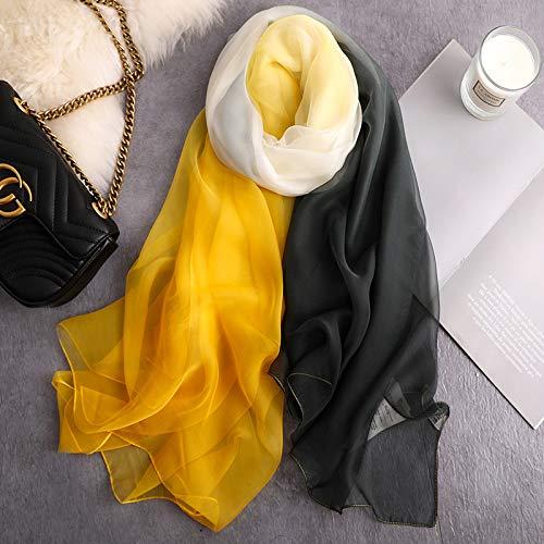 baidicheng Chal de playa 2021 bufanda de seda de verano para mujer chales y envolturas de gran tamaño delgado y suave pashmina playa estolas foulard lady hijabs (color: B 118 c11)