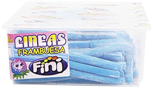 Fini Regaliz Relleno Sabor Frambuesa-Envase, 200 unidades