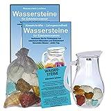 EDELSTEIN WASSER MAGEN & DARM 5-tlg SET. 300g WASSERSTEINE zur