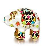 NINAQUEEN Charm Pandora Charm Elefante Regalo Donna Regali per Lei Argento 925 Smalto Perline Regali per la Madre Fidanzata Moglie