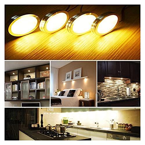 4pcs 12v Regulable DIRIGIÓ Bajo La Luz del Gabinete 12 LE DS 2835 Closet Light Wardrobe Mostrar Luces De La Caja para El Armario De La Estantería De La Cocina (Color : 3000K Warm White)