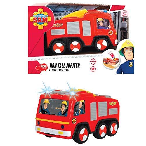Feuerwehrmann Sam Feuerwehrauto Jupiter mit Runterfall Stopp und Licht