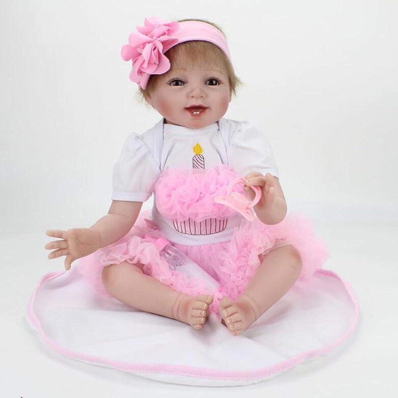 LZTET Reborn Baby Dolls Girl Lieblingsgeschenk Realistische Handgemachte Lebensechte Silikon Vinyl Baby Puppe 22 Zoll 55 cm Soft Simulation Magnetische Mund B07FMJ3W8Q Lassen Sie unsere Produkte in die Welt gehen    Bekannt für seine hervorragende Qualitä