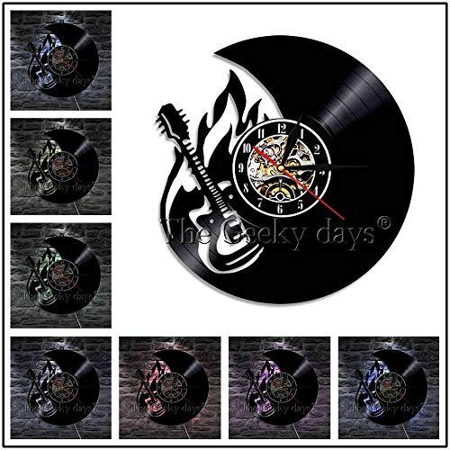 FDGFDG Círculo de Guitarras Instrumento Musical Silueta Rel