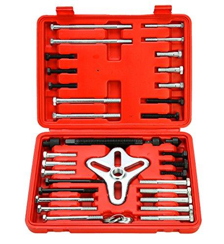 FreeTec Extractor universal de volante, 46 piezas, 2/3 brazos, incluye maletín de transporte