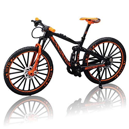 morytrade 自転車 おもちゃ MTB マウンテンバイク 模型 ダイキャスト 1/10 (ブラック/オレンジ)
