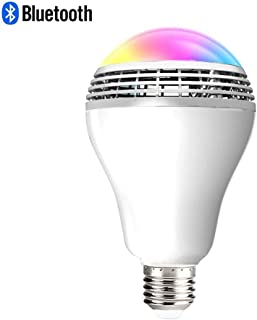 Bluetooth Audio Light Bulb, RGBW Music Sync Dimmable Color Changing Light Bulb 7W Equivalent 60W, Wireless Control Multicolored Smart LED Light Bulb for Party, Bedroom