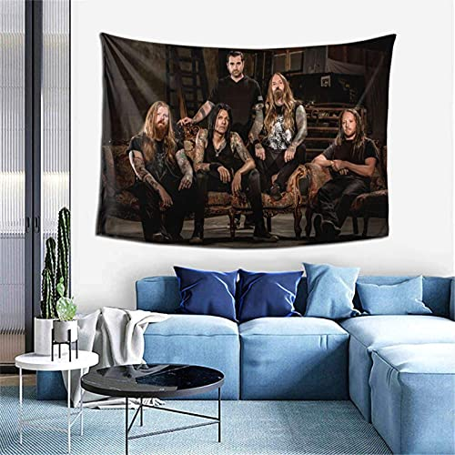 Hdadwy Hip Hop Music Devildriver Band Tapestry 60x40 Inch for Living Room Bedroom Dorm Art Decor Adult and Kids Gift Boutique Tapestry Hd Printing