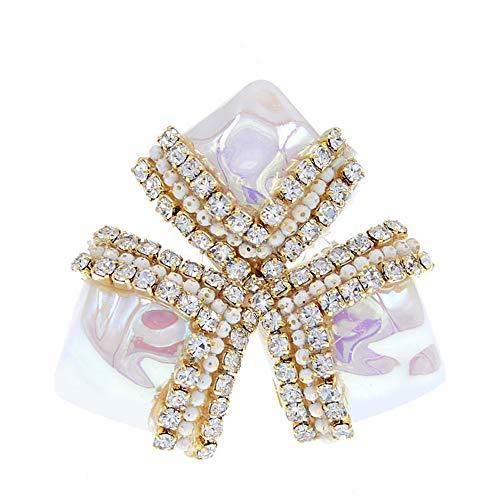 Shell y abalorios broches para mujeres geométrica estilo barroco joyería accesorios de abrigo