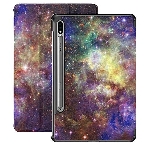 Funda Galaxy Tablet S7 Plus de 12,4 Pulgadas 2020 con Soporte para lápiz S, Billions Galaxies Universe Abstract Space Background Funda Protectora con Soporte Delgado para Samsung