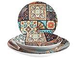 Home 731525 H&H Vietri Vajilla de 18 piezas Coupe, porcelana