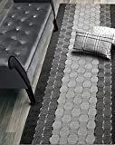 Custom Cut Hallway Runner Rug, Slip Resistant, 31 Inch Wide X Your Choice of Length, Checkered Anthracite, 31 Inch X 3 feet, Doormat