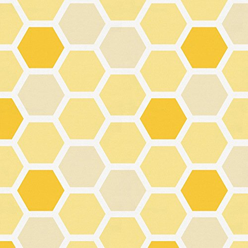 Carousel Designs Yellow Honeycomb Fabric by The Yard - Organic 100% Cotton