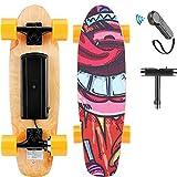 Hanico E-Cruiser Skateboard Électrique avec Télécommande, 7 Couches de Longboard Électrique en Érable, 20KM/H Max, Moteur 350W, E-Skateboard pour Adulte, Adolescent, Enfant (Orange)