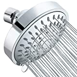 Tibbers Shower Head, High Pressure 5 Settings Showerhead with Adjustable Swivel Ball Joint, Excellent Shower Experience Even at Low Pressure and Water Flow (Fine Spray Chrome)