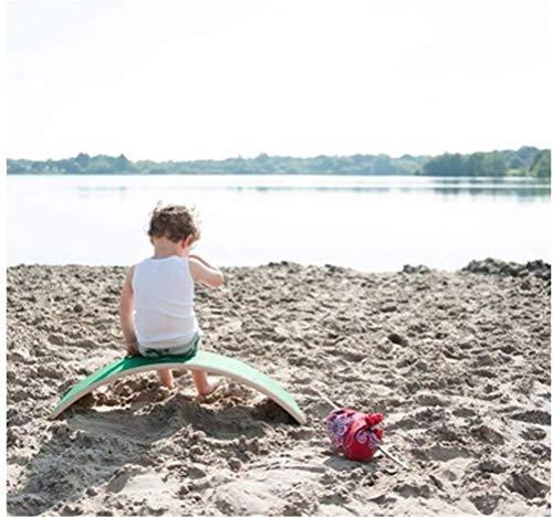 DSZZ Health Junta Yoga Waldorf de Madera de niños con Curvas de Capa de Fieltro - Contribuir Kid Construir un Sentido de Equilibrio, Cuerpo Muscular y Desarrollo de la Mente Juguetes educativos,Verde