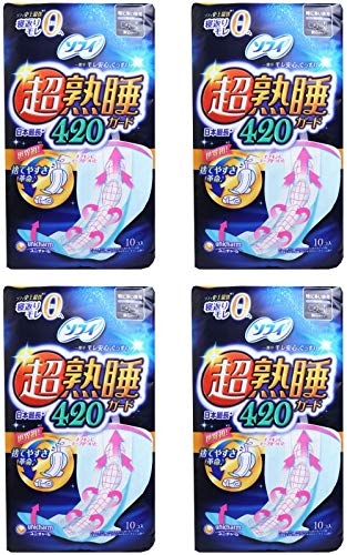 【まとめ買い】ソフィ 超熟睡ガード 420 10枚(くるっとテープつき)〔生理用ナプキン 夜用〕【×4個】