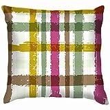 Felsiago - Fundas de cojín para sofá, diseño de rayas, color azul y blanco